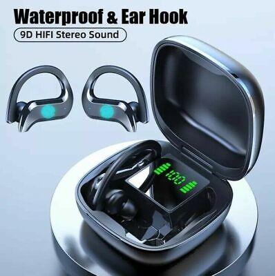 Sports Headphones Wireless Bluetooth 5.0 TWS Earbuds In-Ear Hook IPX5 Earphones
