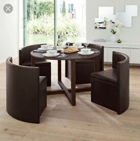 Next Hide away table and 4 chairs