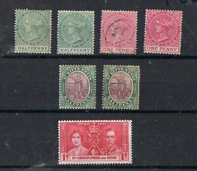 ST CHRISTOPHER AND NEVIS - Lot of old stamps