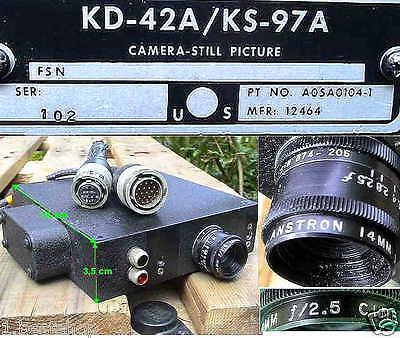 BW 16mm LUFTBILD KAMERA PERISKOP FLUGZEUG PERISCOPE CAMERA STILL PICTURE ANSTRON