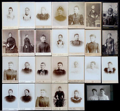 1800's ANTIQUE Victorian CDV Photo Lot FASHION & JEWELRY Hamburg Altona GERMANY