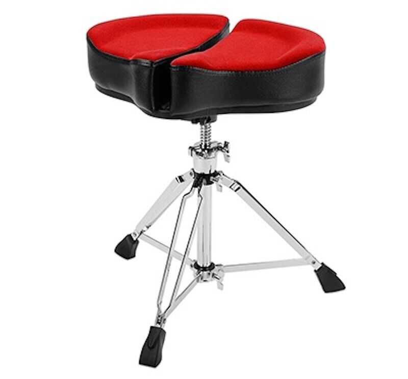 Ahead Spinal G Saddle Drum Throne Red Cloth Top/Black Sides