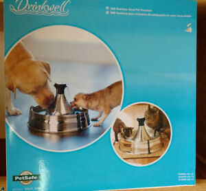 360 Pet Fountain, Stainless Steel - Brand New