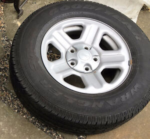 REDUCED!!  Goodyear Tires & Rims from Jeep Wrangler