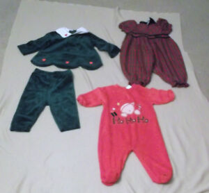 Christmas Dresses/Outfits  Size 3 MTHS to 12 MTHS, Size 2,3,4 &5