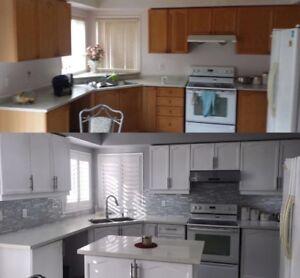 KITCHEN SPRAYING Sinks Backsplash Countertops Shower REGLAZING