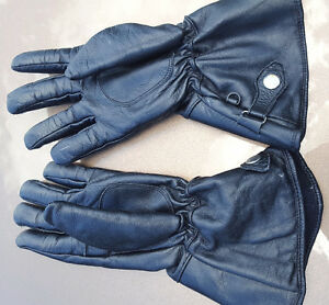 Genuine Leather Gloves for motorcycle bike scooter Excellent