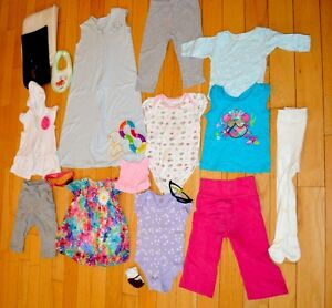 Girl's Wardrobe. 20 Pieces Lot. Size 9-12 Months Mint Condition.