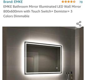 Bathroom mirror built-in led light +demister slight damage RRP£129