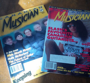 Two Canadian Musician Magazines