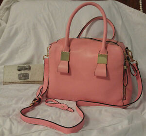 pink purse / bag and guess wallet