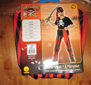 Cutthroat Pirate Buccaneer Costume Med 8-10  NWT