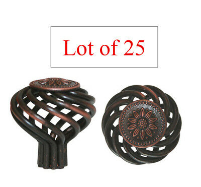 Sunflower Oil China - 25 Oil Rubbed Bronze Sunflower BirdCage Kitchen Cabinet Knobs free shipping