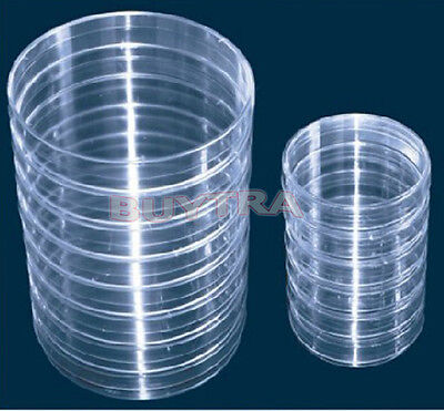 10clear Sterile Plastic Petri Dishes For Lb Plate Bacterial Yeast 90mmx15 Mhffs