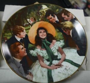 """GONE WITH THE WIND"""" SCARLETT AND HER SUITORS COLLECTIBLE PLATE"""