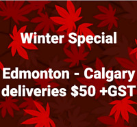 Edmonton-RedDeer-Calgary-Hinton-Camrose sameday deliveries