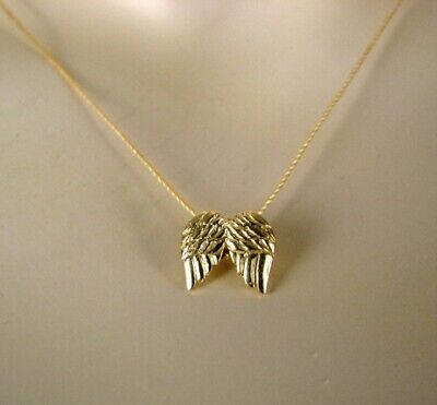 - Dogeared Necklace Gold Angel wing Make A Wish 18 inch New With Card