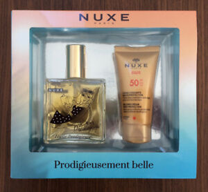 NUXE Paris: Duo Huile Prodigieuse+Protection solaire Anti-âge