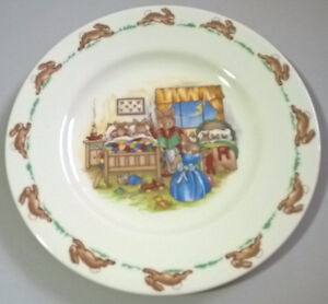 "Royal Doulton Fine English Bone China 1936 Bunnykins 6 1/2"" Plat"