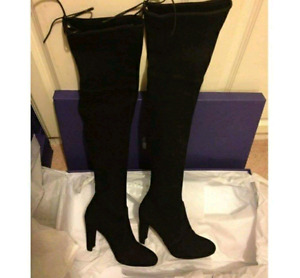 BRAND NEW! Black Thigh High Boots - Size 6.5\7 - $45