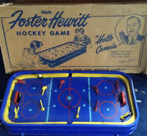 Foster Hewitt table top hockey game