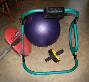 Exercise Equipment  Ab exerciser, exercise ball & exercise wheel