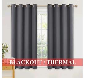 Grey eyelet curtains (2 pairs) £25 each
