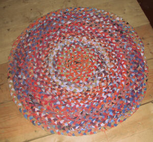 Hand made braided rug