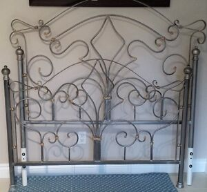 Pewter Double Bed - Head & Foot Frame