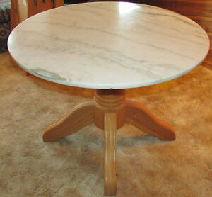 Solid Marble Round Pedestle Table