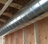 Unfinished Basement Duct Work Installations (3 line minimum)