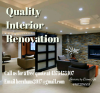 Quality Interior Renovations - 437- 345-3407 or 416-721-9005