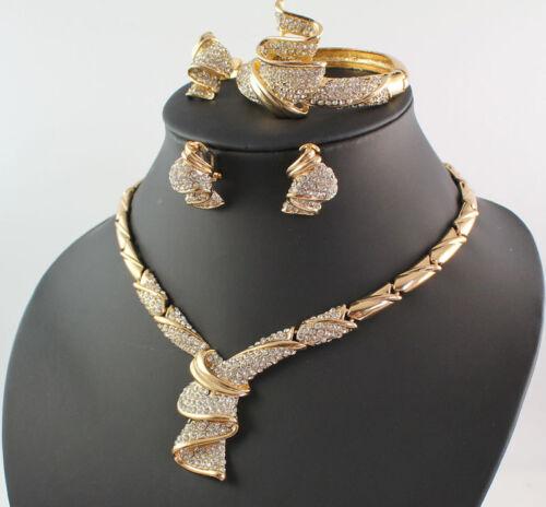 Diamond Rings Sale Dubai: Women 18K Gold Plated Africa Dubai Wedding Party Necklace