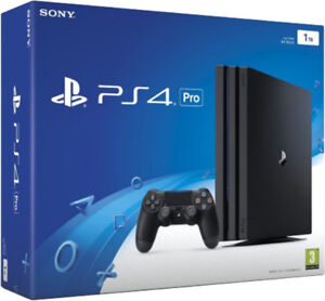 Ps4 pro with two controllers and two games. Sell or trade.