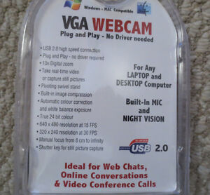 NEW  VGA WEBCAM - BUILT-IN MICROPHONE & NIGHT VISION Kitchener / Waterloo Kitchener Area image 2