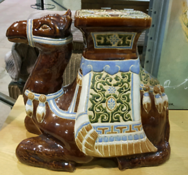 Large ceramic camel ornament / side table / statement piece