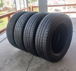 Set of four 185/65 /15 all season tires. 6/32nd tread