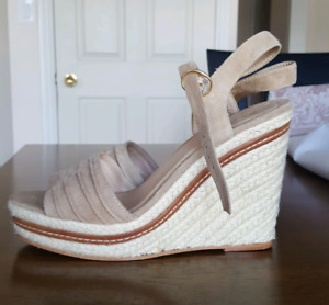 Genuine Leather Wedge Sandals. Size 9