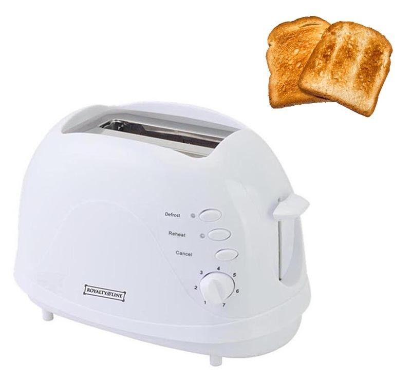 Tostapane elettrico per 2 toast tostatrice riscalda sbrina tosta fette di pane