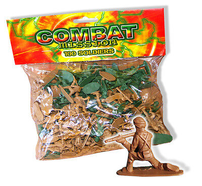100 or 500 BOYS MINI PLASTIC TOY SOLDIERS COMBAT MISSION COMMANDO FIGHT FIGHTERS