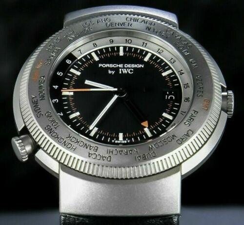 IWC World Timer GMT Vintage Alarm Titanium Black Dial Collection Porsche Design - watch picture 1