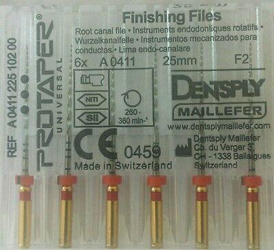Dental Dentsply Rotary Protaper Universal Engine Niti Files 25 Mm F2