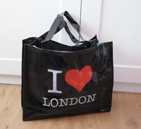 Joblot 60x Ladies Souvenir PVC I Love London shopping bag wholesale clearance stock
