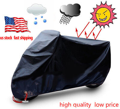 Motorcycle Helmet Cover Black Bike Waterproof Outdoor Rain Dust UV Protector XXL