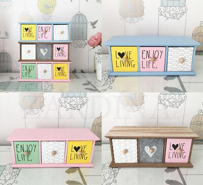 Kimberly - Wooden Decorative Mini Drawer Storage Box