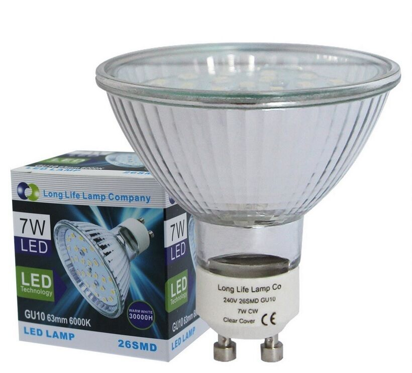 7W 63mm GU10 LED Replacement for 63mm Halogen bulb 650 Lumens Warm ...