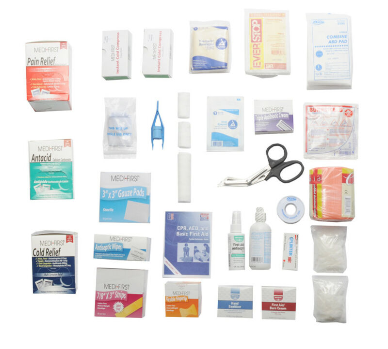 First Aid Kit Refill For A 2 Shelf Kit With Medications