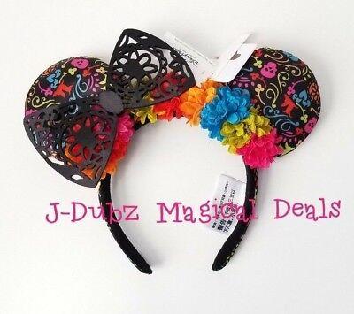 (NWT Disney Parks Coco Flower Minnie Mouse Bow Ears Headband )