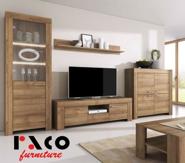 TV Wall Unit Sky Modern Set of Living Room Furniture Coffee Table ...