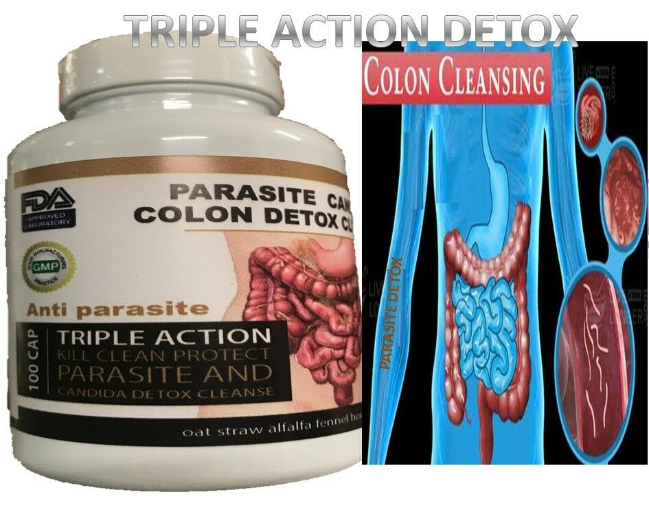 Remove Parasite ANTI PARASITE & CANDIDA DETOX Body Cleanse ULTRA FLASH COLON 100